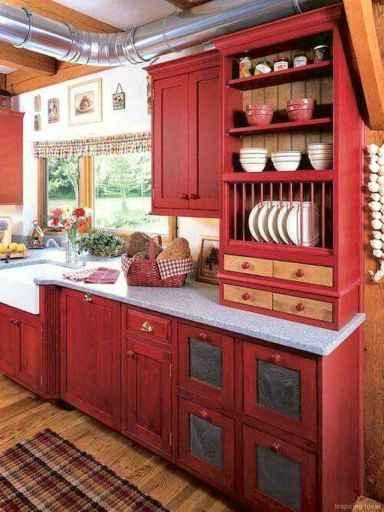 Amazing cottage kitchen cabinets ideas048