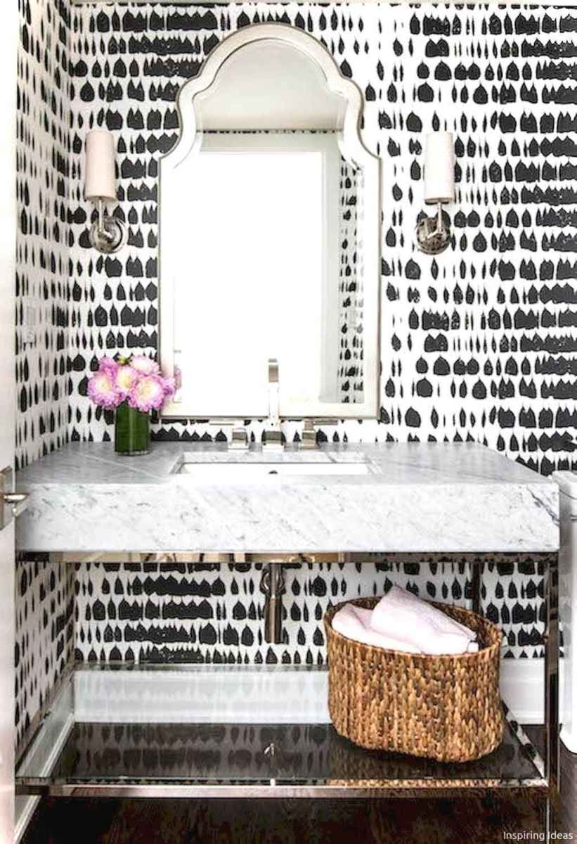 66 black and white bathroom design ideas