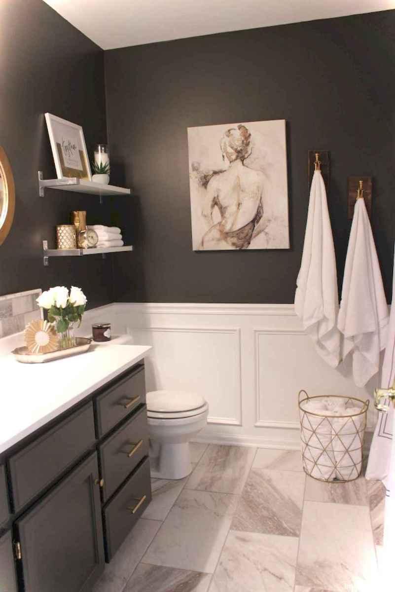 74 black and white bathroom design ideas