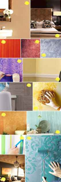 Artsy wall painting ideas for your home 66