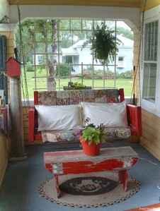 Vintage front porches furniture ideas 25