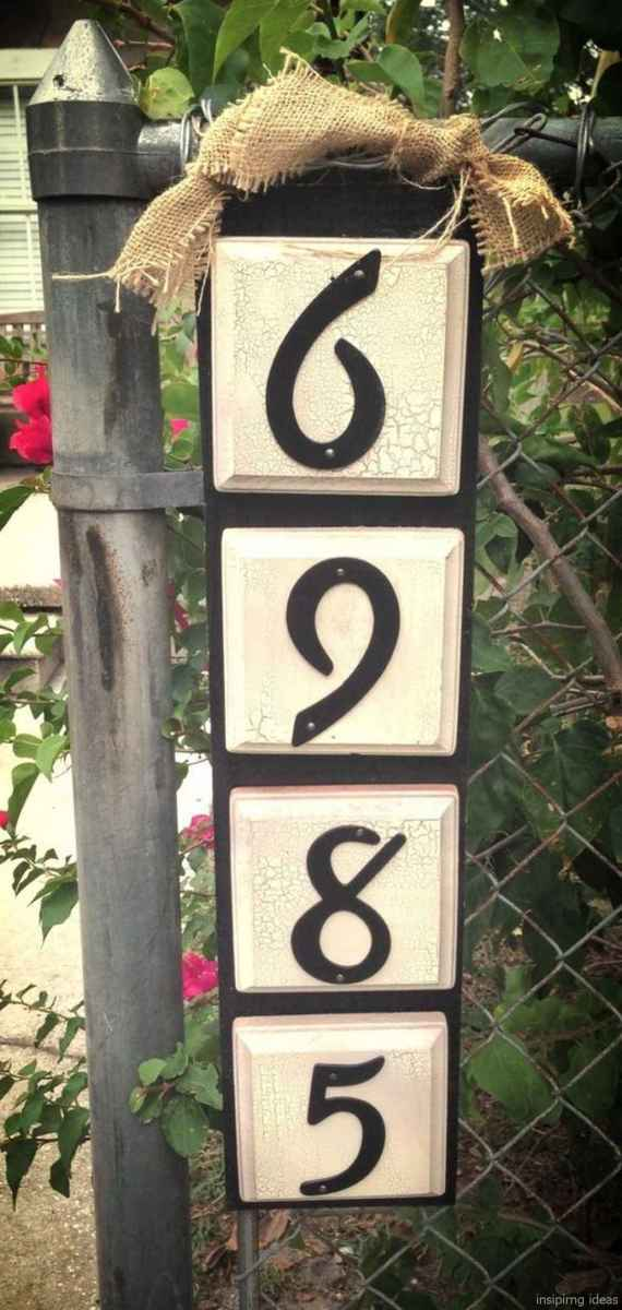 01 awesome diy modern address plate design ideas