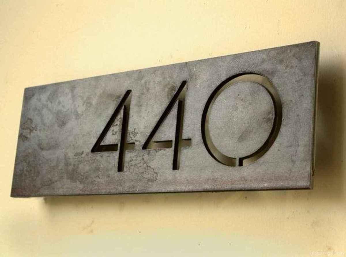 02 awesome diy modern address plate design ideas