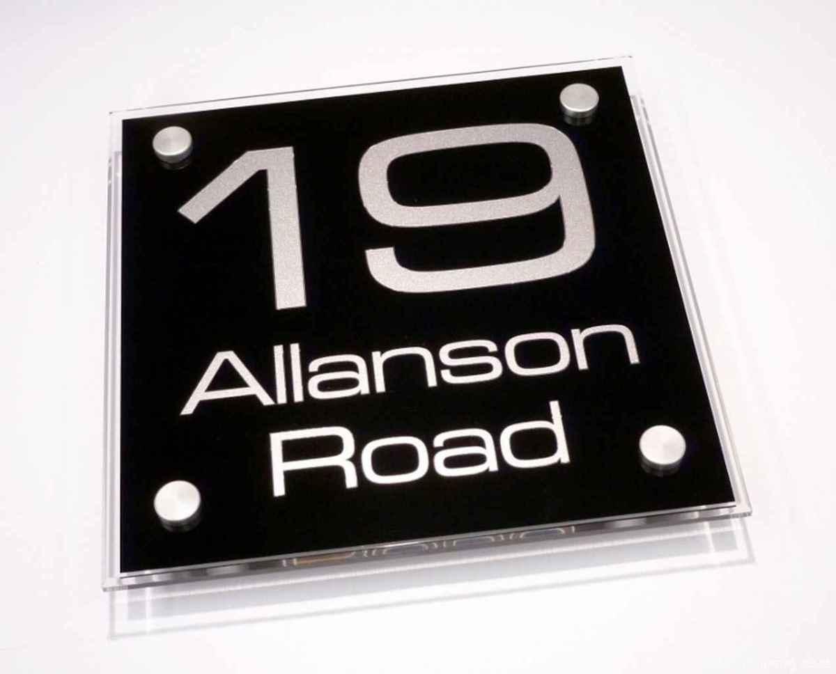 05 awesome diy modern address plate design ideas
