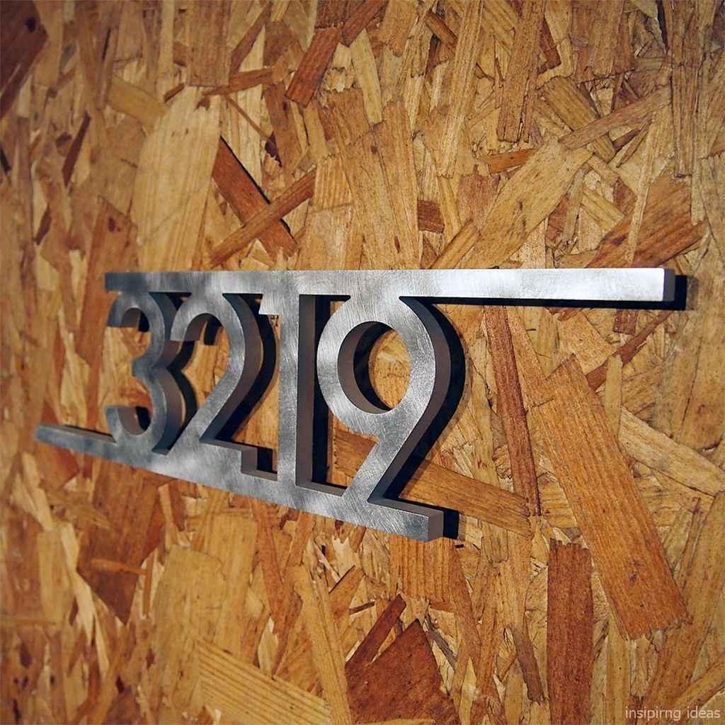 06 awesome diy modern address plate design ideas