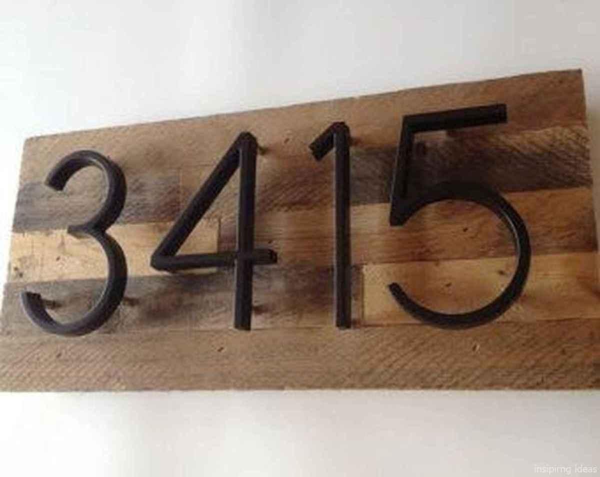 09 awesome diy modern address plate design ideas