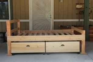 15 genius rustic storage bed design ideas