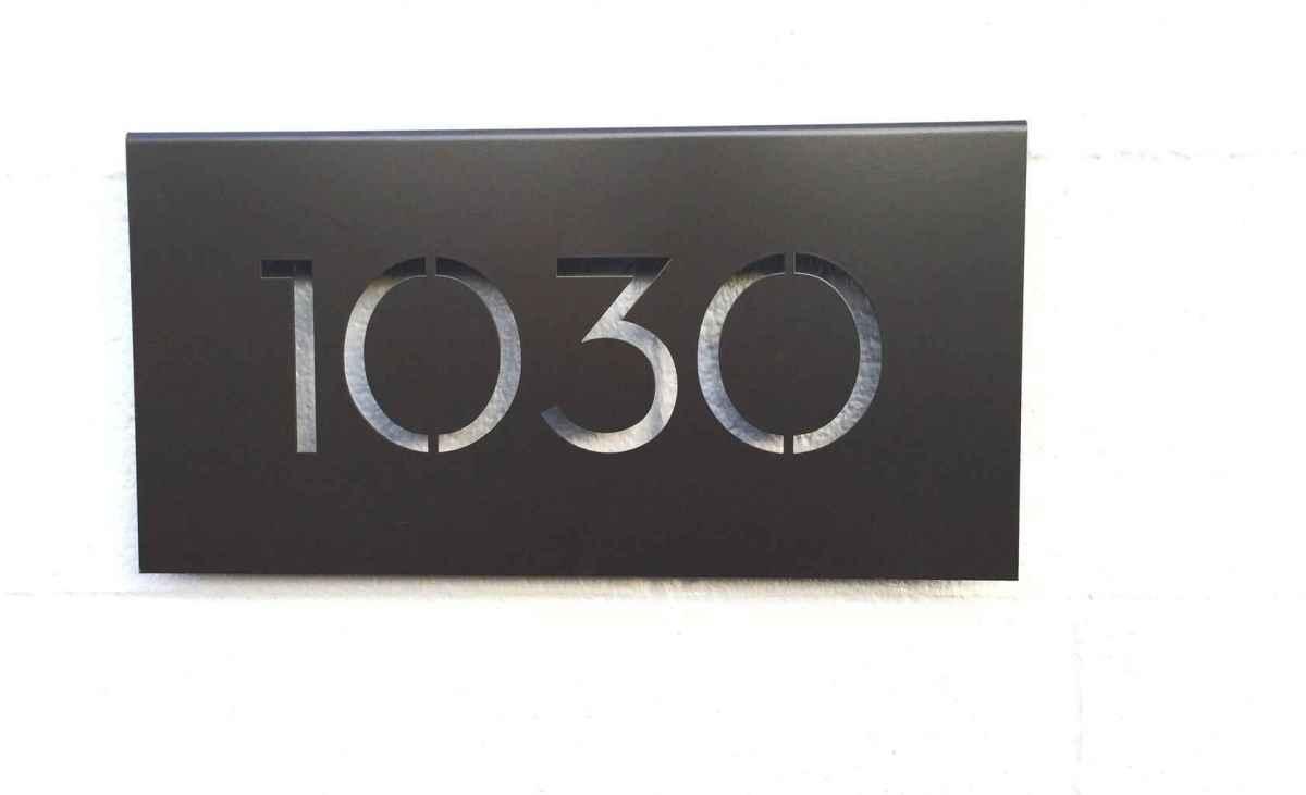 24 awesome diy modern address plate design ideas