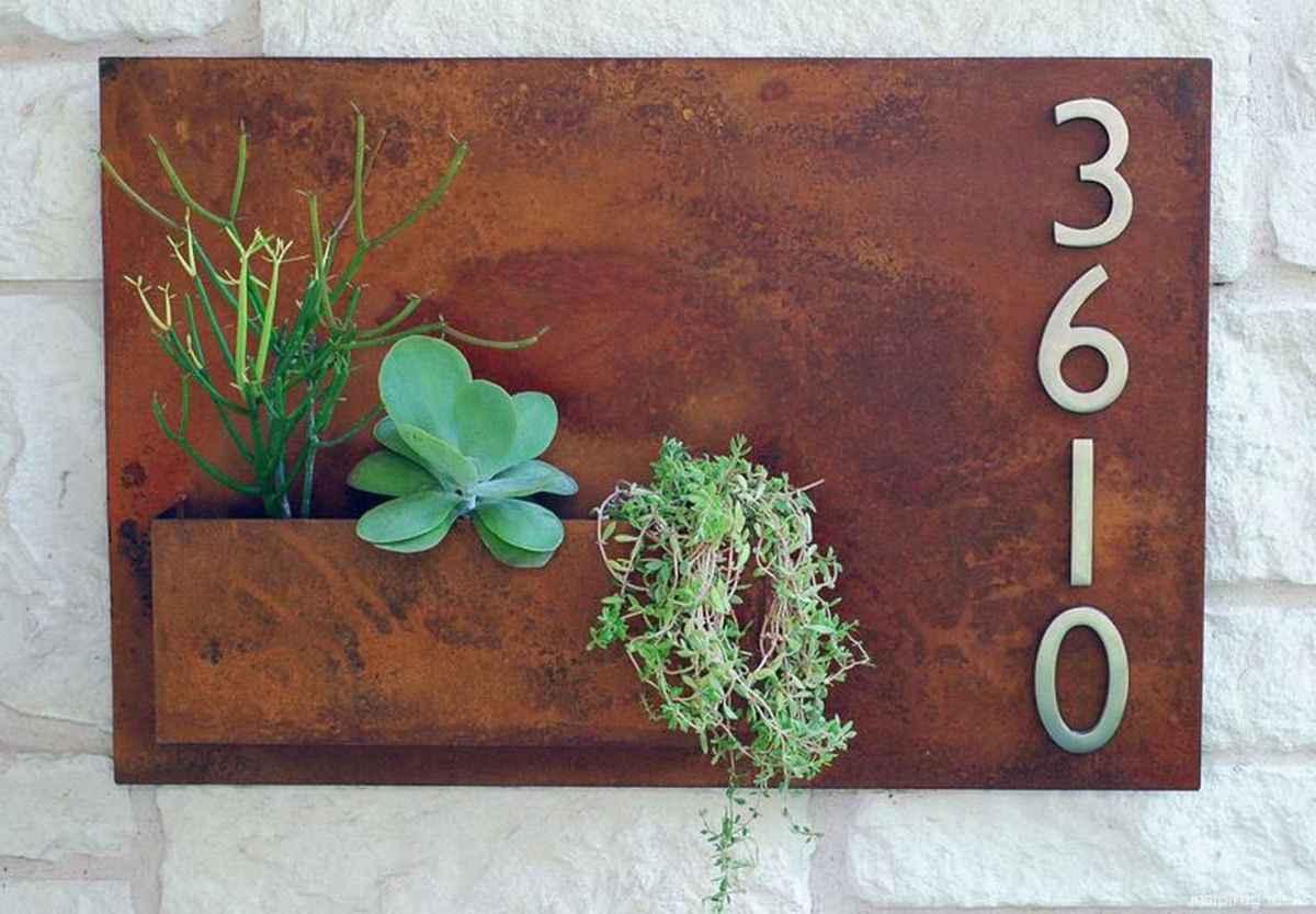 26 awesome diy modern address plate design ideas