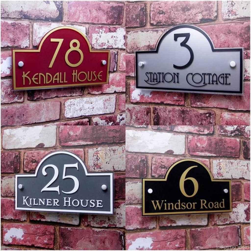 28 awesome diy modern address plate design ideas