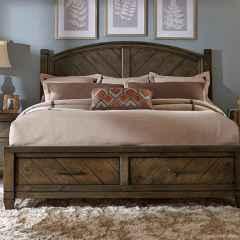 32 genius rustic storage bed design ideas