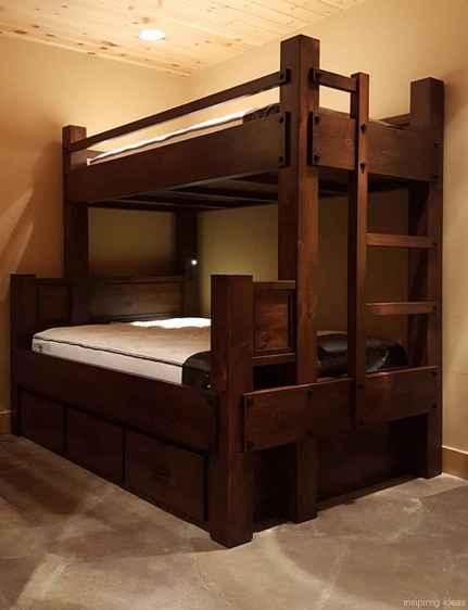 35 genius rustic storage bed design ideas