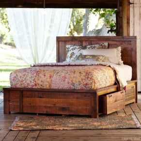 44 genius rustic storage bed design ideas