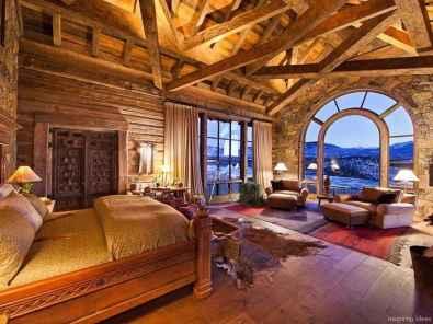 54 rustic log cabin homes design ideas