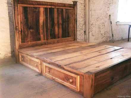 66 genius rustic storage bed design ideas