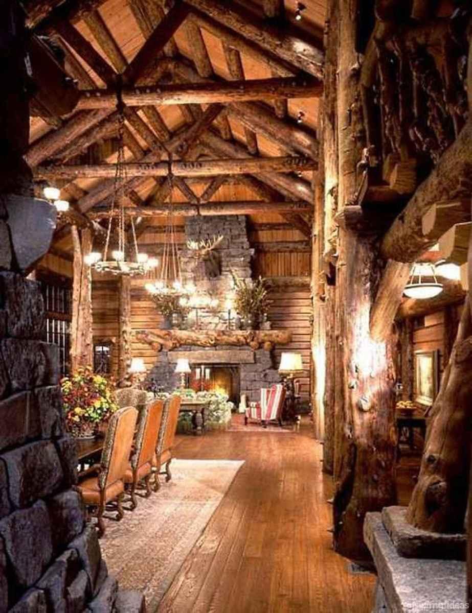 67 rustic log cabin homes design ideas