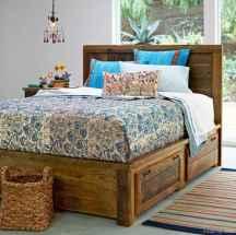 72 genius rustic storage bed design ideas