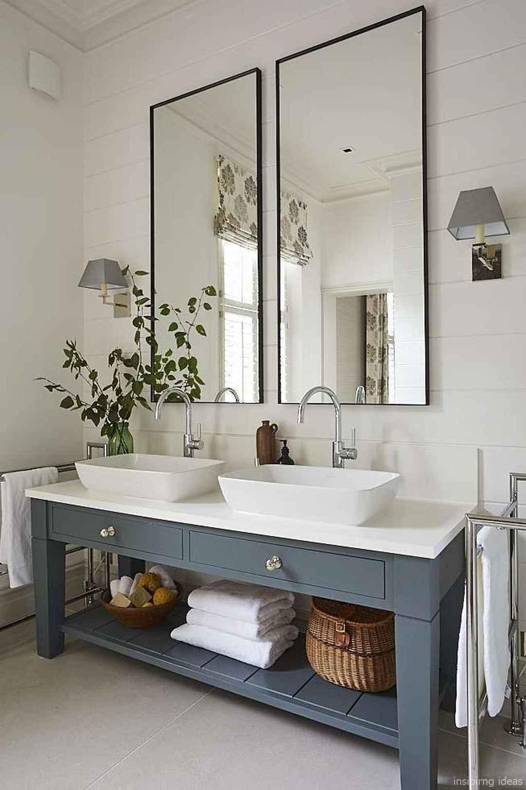 44 fabulous modern farmhouse bathroom vanity ideas - Room ...