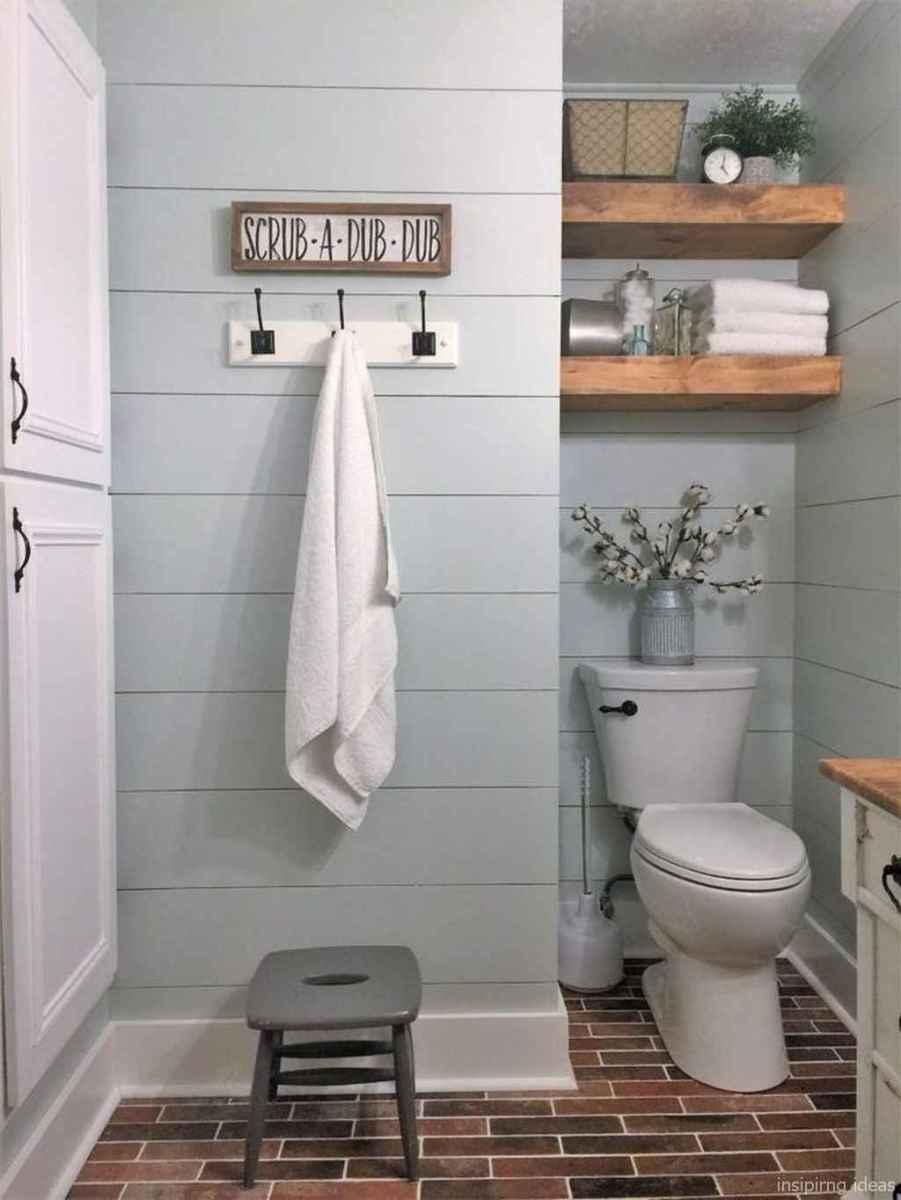 50 modern farmhouse small bathroom wall color ideas 19