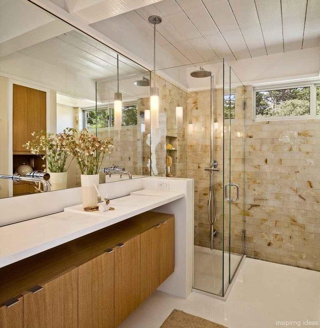 50 modern farmhouse small bathroom wall color ideas 20
