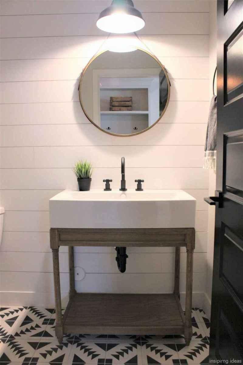 50 modern farmhouse small bathroom wall color ideas 42
