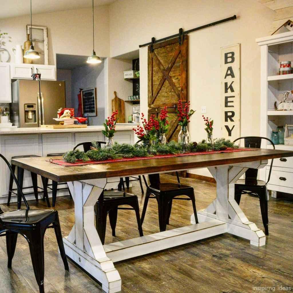 Awesome farmhouse kitchen table design ideas 31