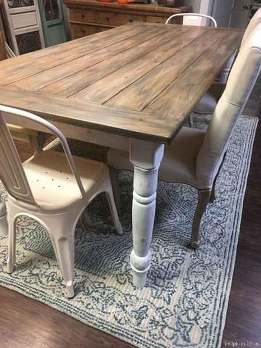 Awesome farmhouse kitchen table design ideas 43