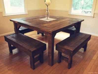 Awesome farmhouse kitchen table design ideas 45