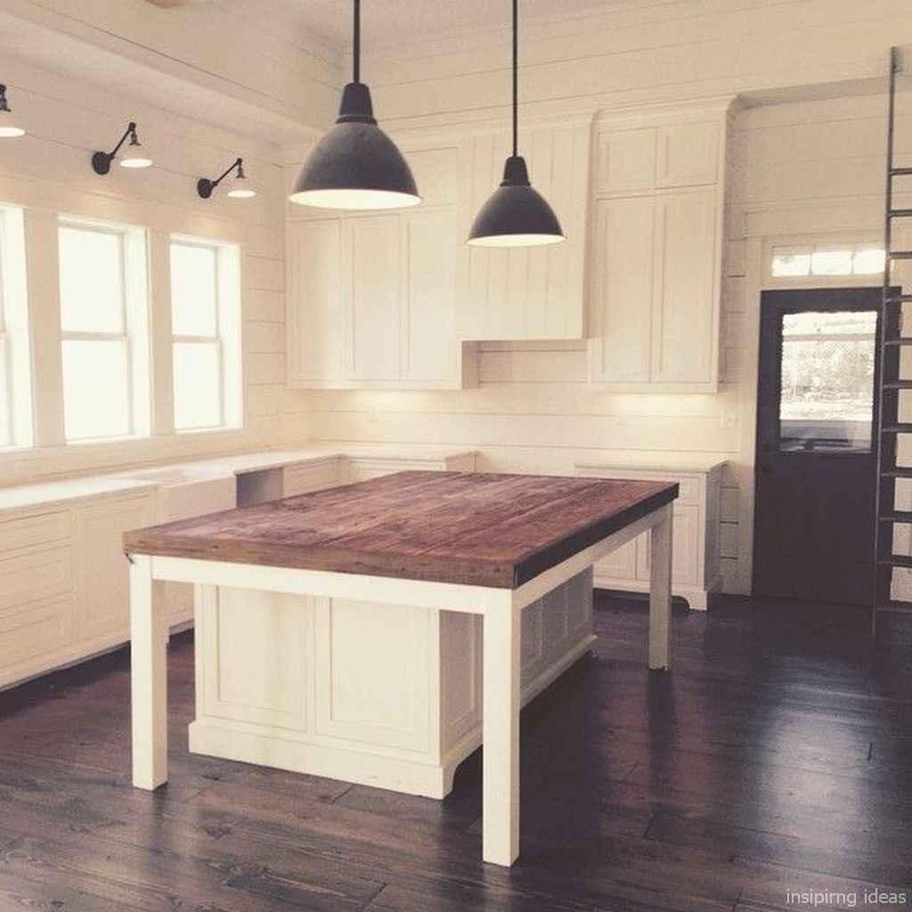 Awesome farmhouse kitchen table design ideas 54