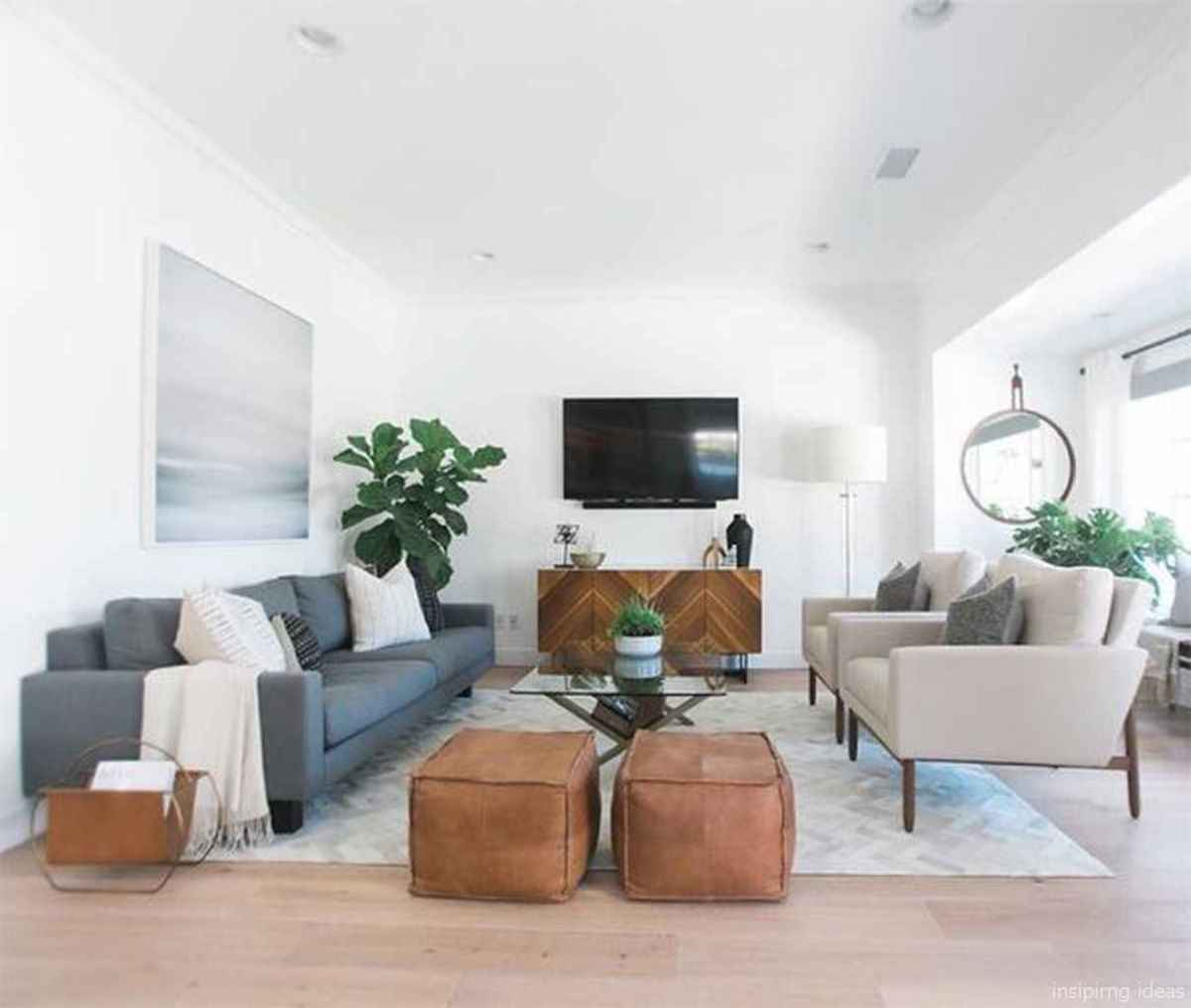 Cozy modern apartment living room decorating ideas on a budget 19