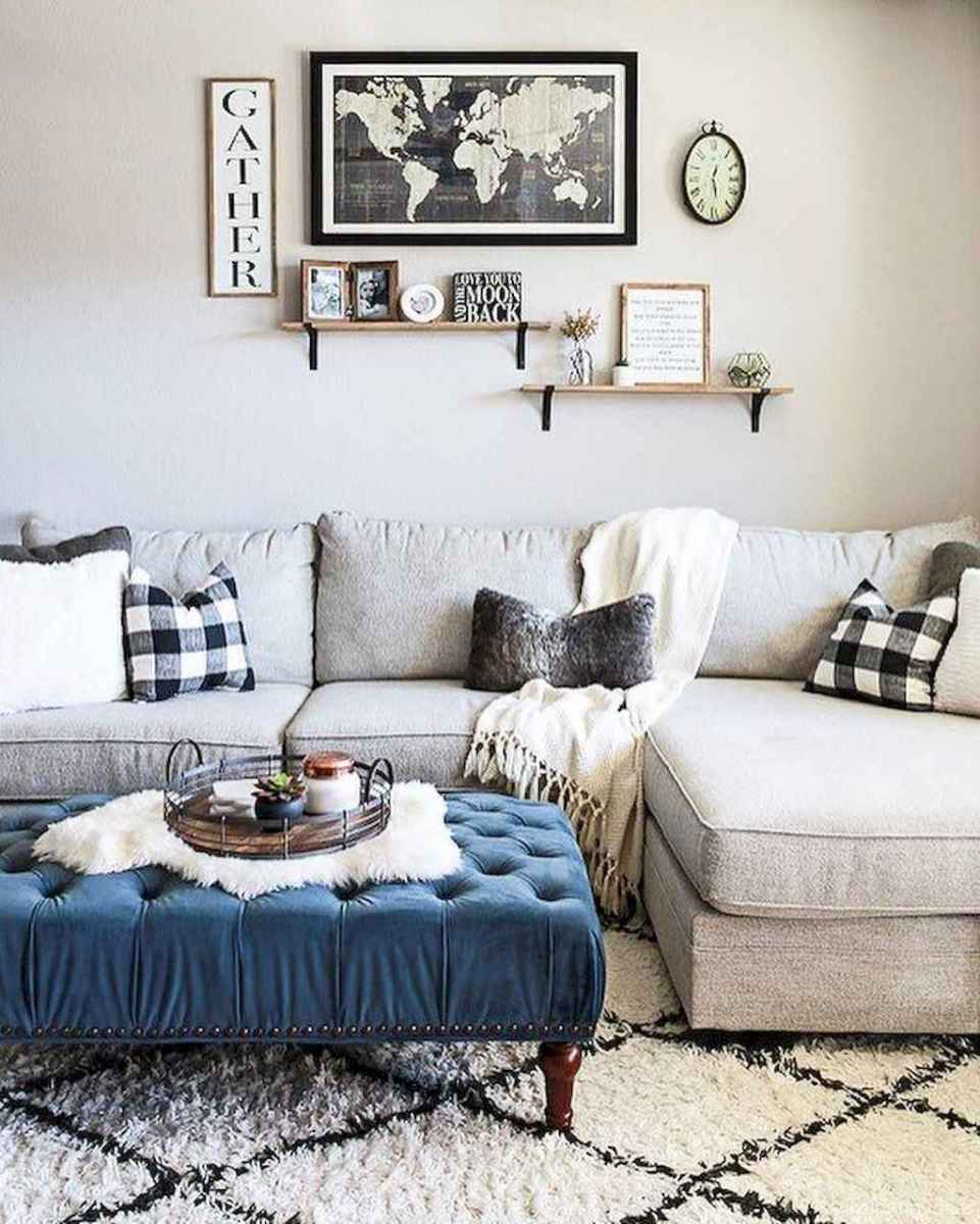 Cozy modern apartment living room decorating ideas on a budget 40