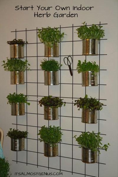 indoor herb garden 10 Easy DIY Kitchen Herb Gardens -Room & Bath