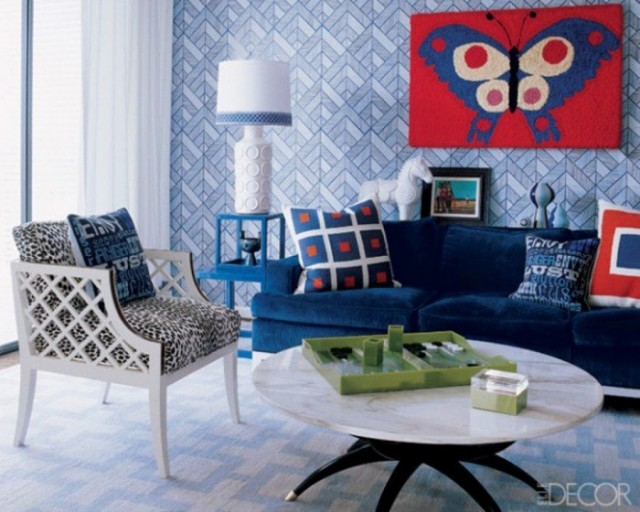 Living Room Ideas: Creative Solutions for Blank Walls ... on Creative Living Room Wall Decor Ideas  id=70492