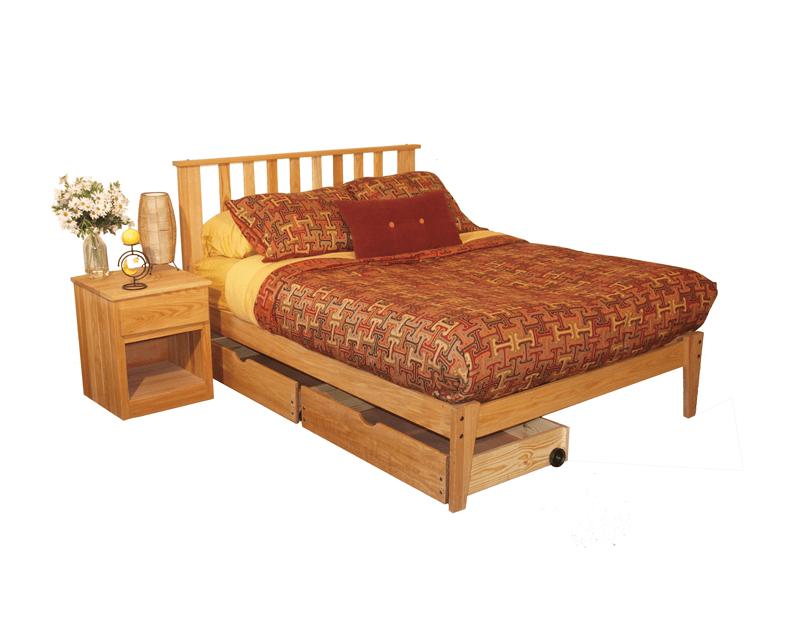 oak bedroom set full size 4 piece unfinished
