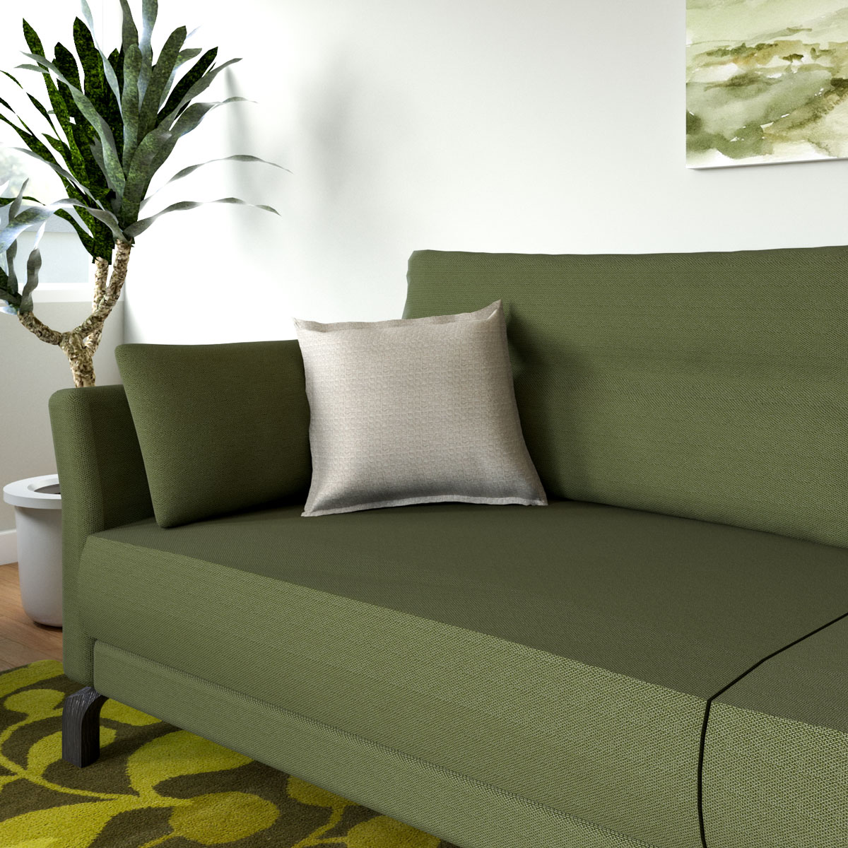 what color throw pillows for olive