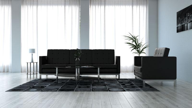 decorating around black furniture
