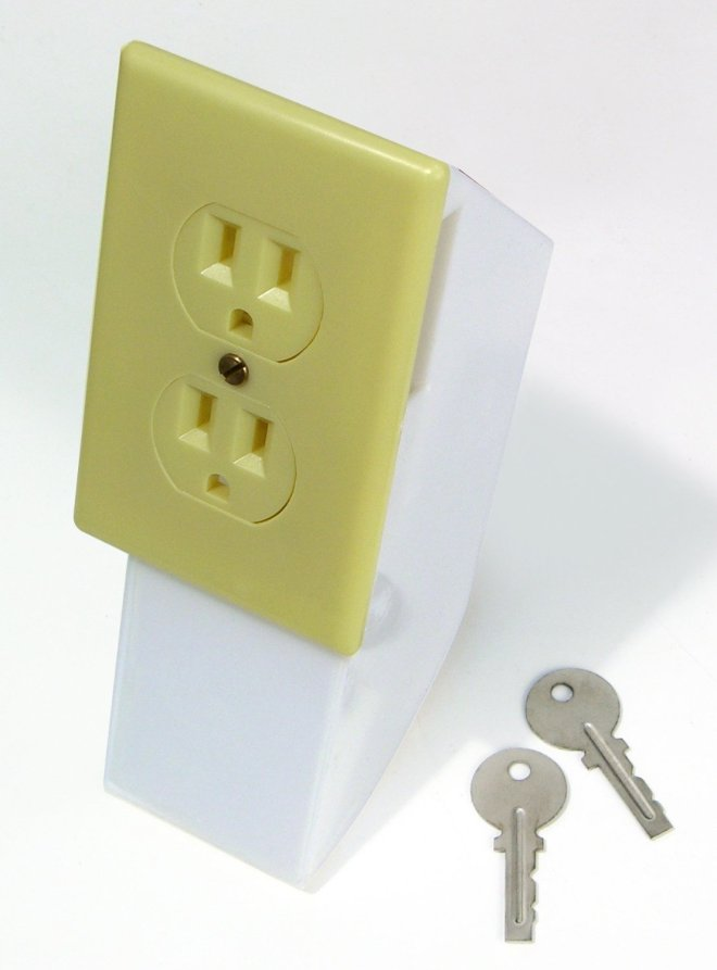 Electrical Outlet Wall Safe