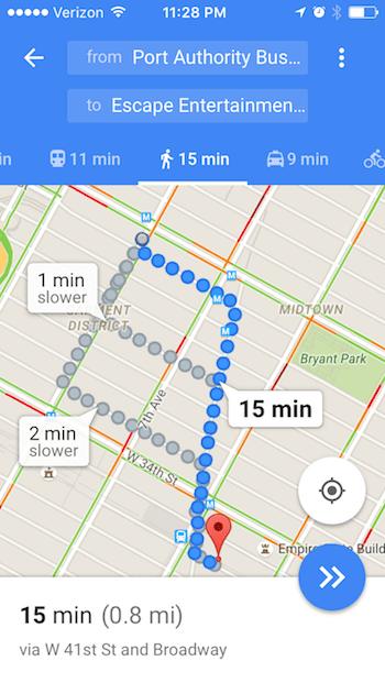 Google Maps Walking Directions - Room Escape Artist on maps driving directions, google world map, maps and directions, bing maps walking directions, google mapss, map for directions,