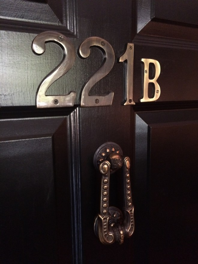 221B Baker St. is the address of Sherlock Holmes. It's the details that count.
