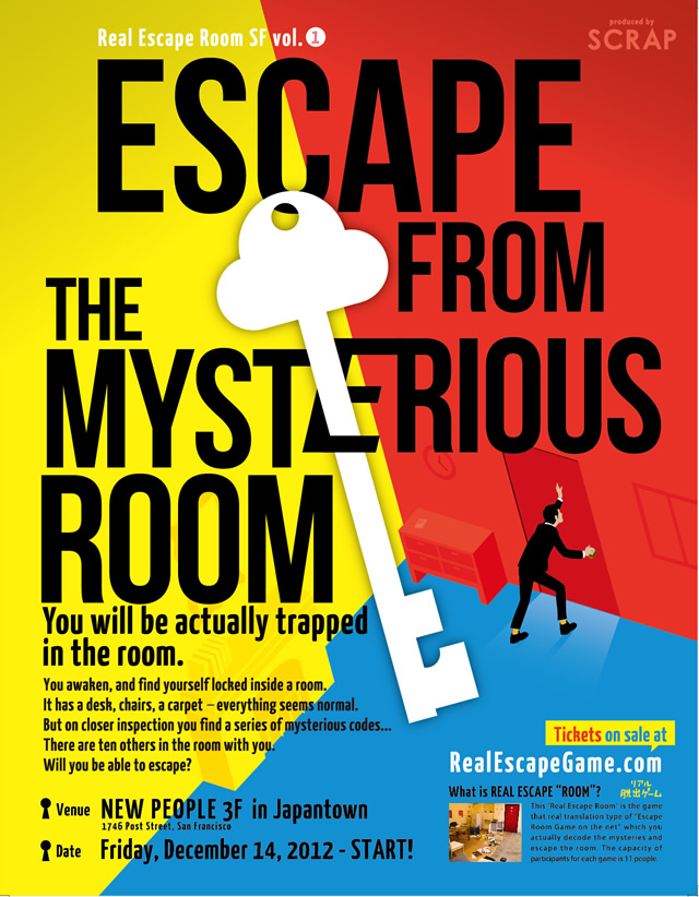 Real Escape Game by SCRAP - Escape From the Mysterious Room ...