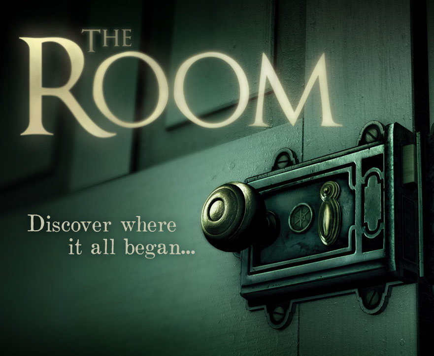 """The Room Logo depicts an elaborate and old lock on a door. Text states, """"Discover where it all began..."""""""