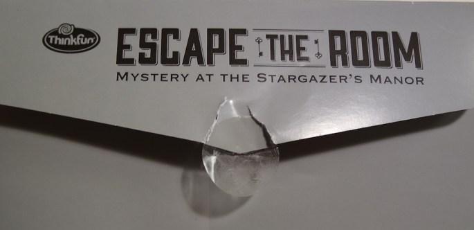 Mystery at Stargazer's Manor envelope sticker
