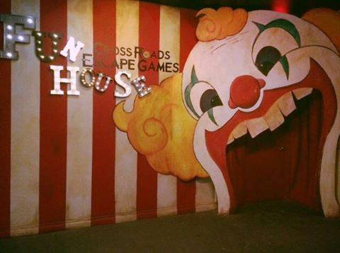 The Fun House Entrance, through the gigantic painted mouth of of clown.