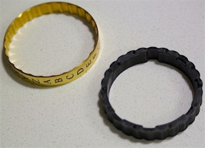 The cryptex outer ring seperated from the inner ring for reset purposes.
