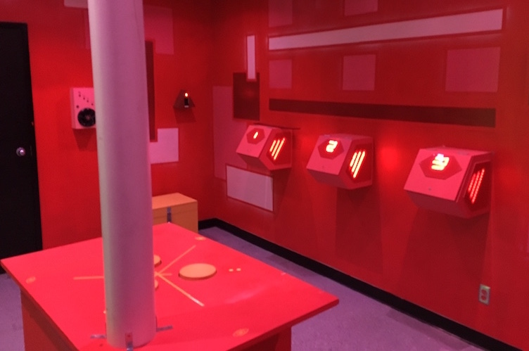 In-game: The Red Room features a variety of interactions pained shades of red.