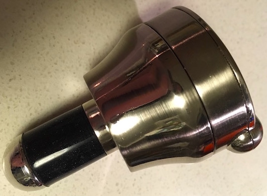 Wine or Spirit Bottle Lock - Combination Lock Bottle Stopper in its normal, retracted state.
