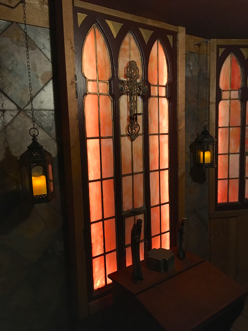 In-game: A beautiful chapel set with incredible stained glass windows.