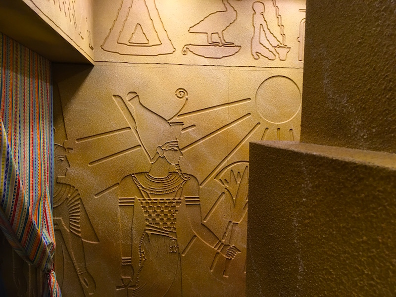 In-game: Carvings on the wall of an Egyptian tomb.