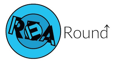 REA Round Up logo with an up arrow atop the letter d.