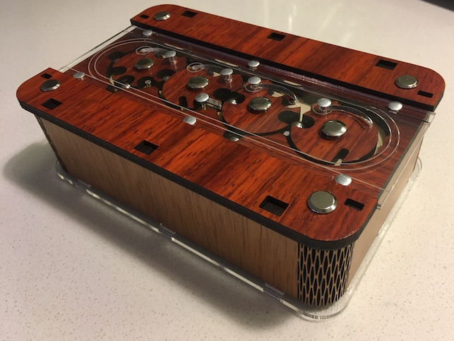 Viking Box - Closed. This intricate metal, wood, and acrylic box looks pretty.